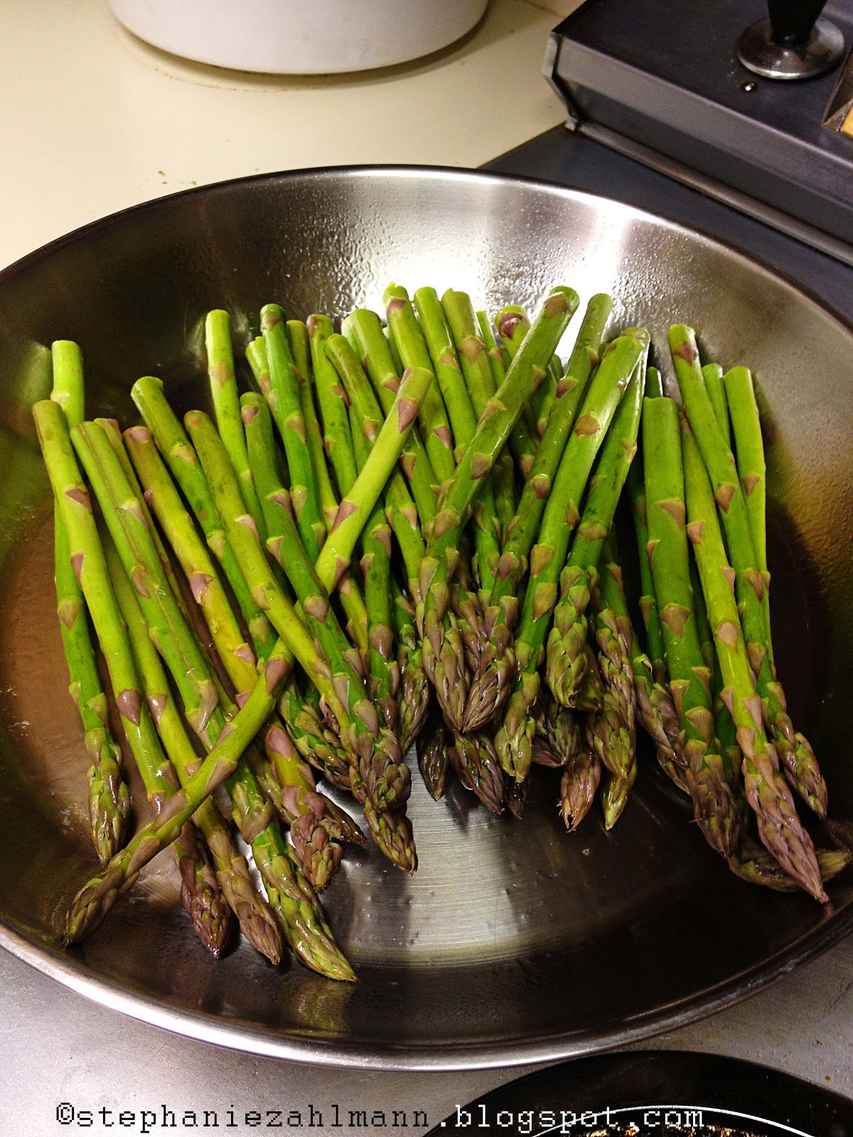 Cook Until Asparagus Turns Bright Green And Becomes Soft And Pliable  (easily Pierced With A Fork)  About 10 Minutes Turn Off Heat To Burner
