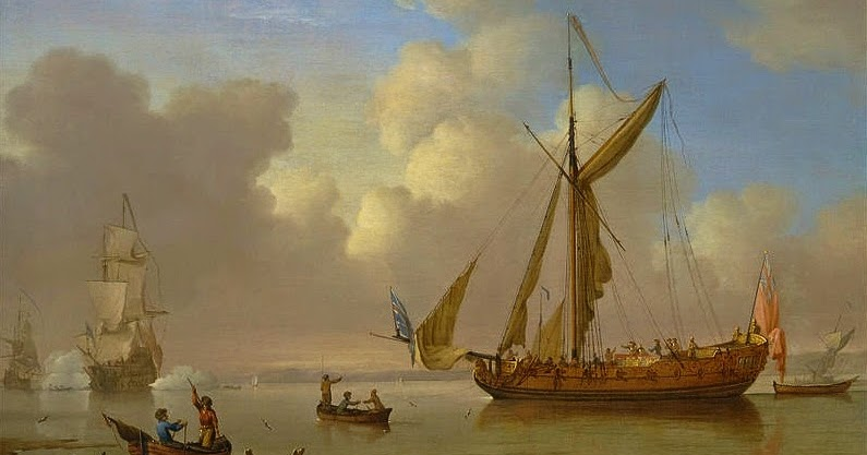 Royal Yacht Becalmed At Anchor By Peter Monamy
