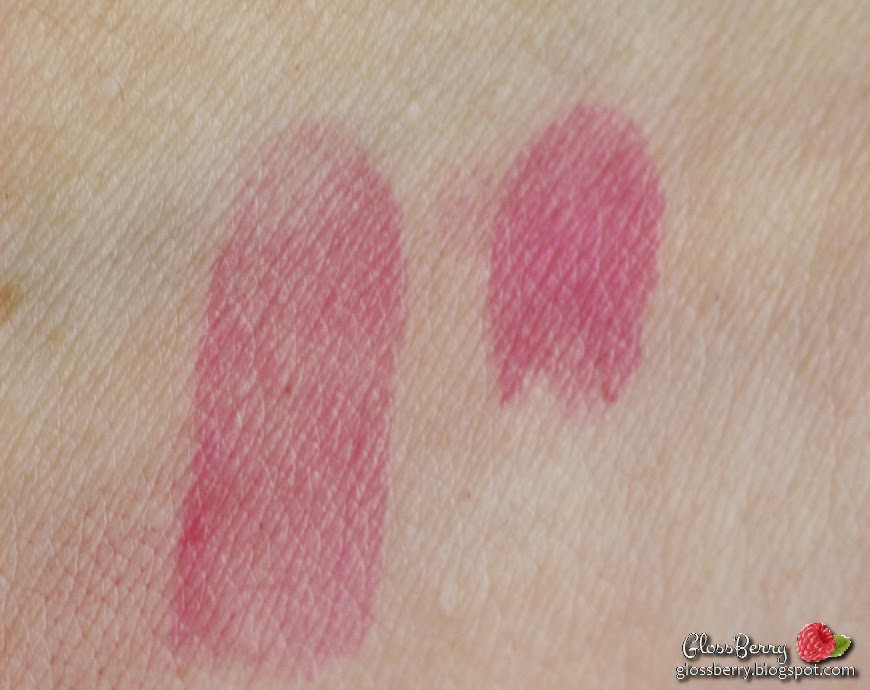 Innisfree vivid tint rouge 01 review swatches lipswatch glossberry