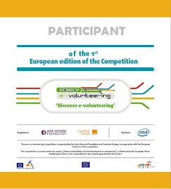 Certificado de Participação no E-volunteering