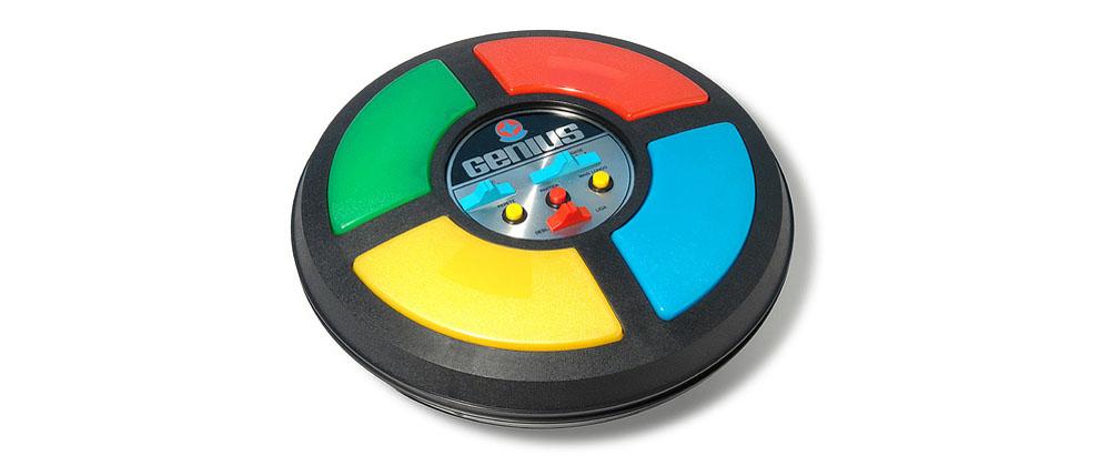 O jogo eletrônico Genius.