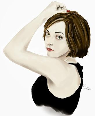 dessin digital femme
