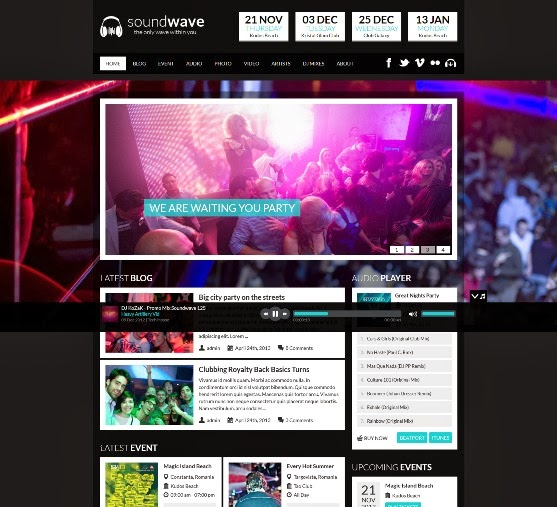 Soundwave Music Events WordPress Theme