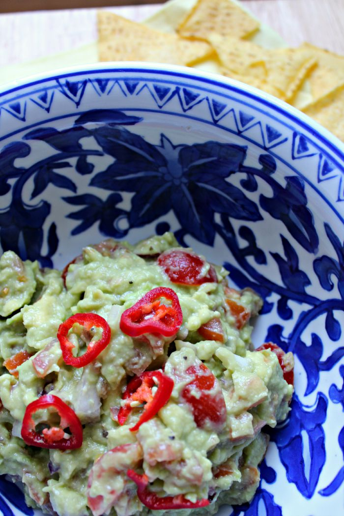 Easy guacamole, sainsbury's tortilla chips