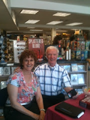 "Book signing of my novel, ""Splattered Blood"""