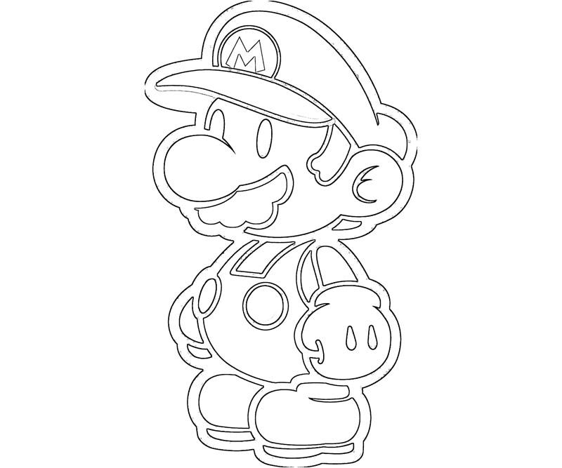 #14 Super Mario Coloring Page
