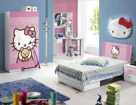 desain kamar hello kitty berwarna biru desain rumah
