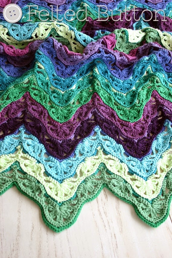 Brighton Blanket Free Crochet Pattern by Susan Carlson of Felted Button