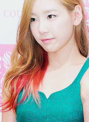 Taeyeon SNSD Girls' Generation Stylish Pink and Brown Hair
