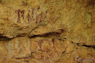 Pinturas rupestres, gente. Cave painting, people. Barranco Moreno (Bicorp)