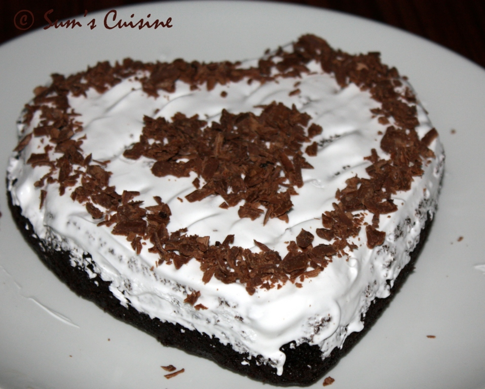 Sums Cuisine Eggless Chocolate Cake with whipped cream topping