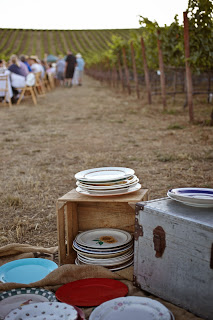 Outstanding in the field farm dinner at Robert Sinskey vineyard in Napa