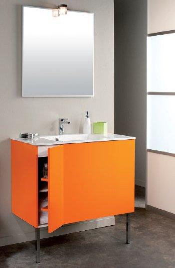 Salle De Bain Peinte En Orange