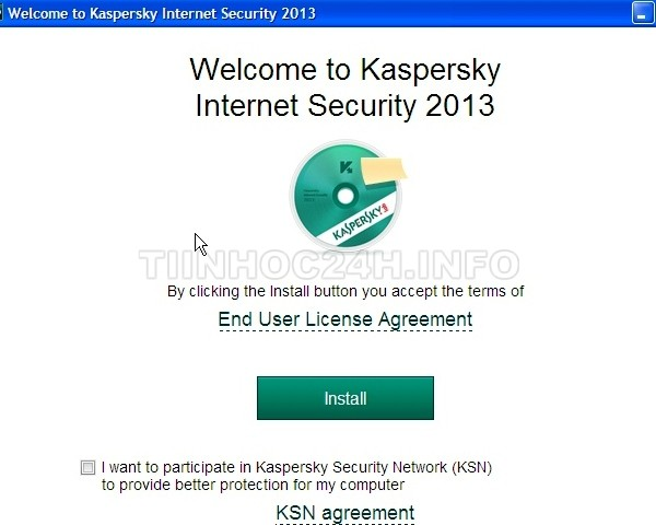 kaspersky internet security 2013 install