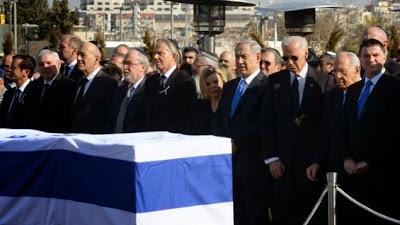 Gambar Sekitar Majlis Pengkebumian Ariel Sharon