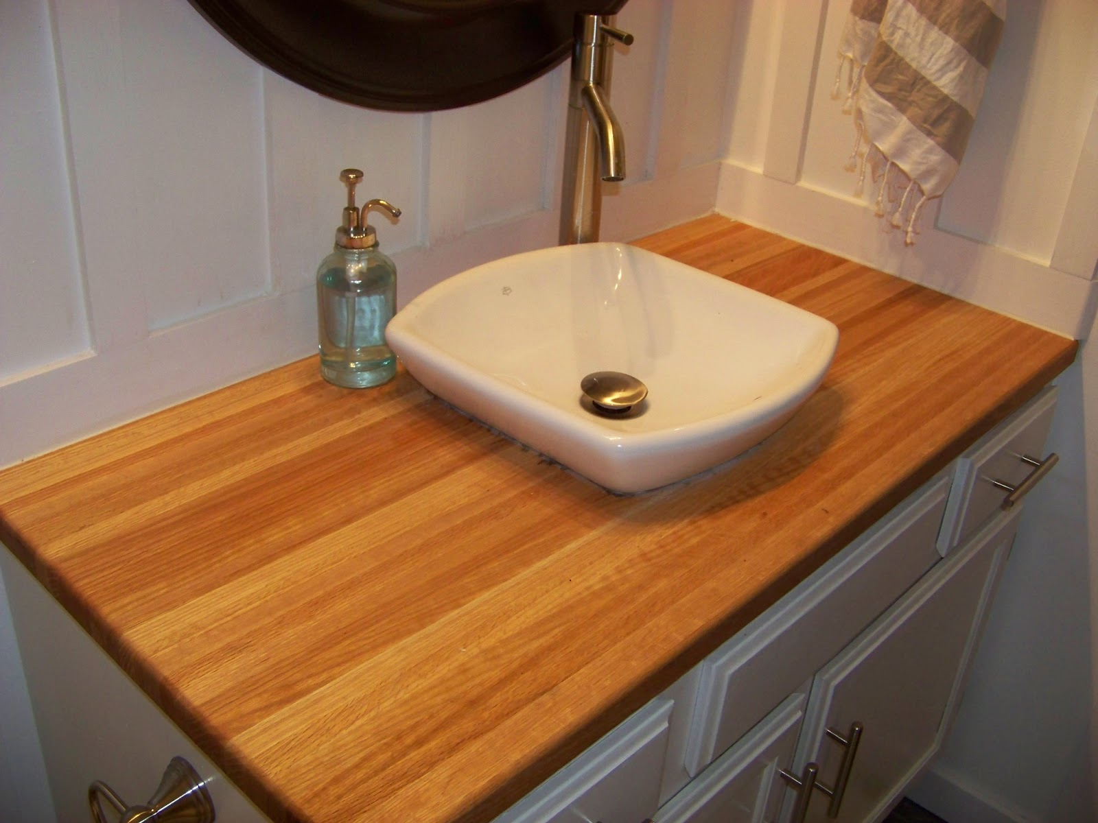 There it is my beautiful butcher block counter top