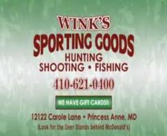 Wink&#39;s Sporting Good