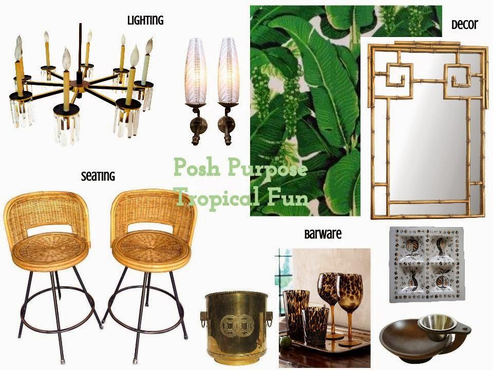 Posh Purpose Chairish Collaboration Our Ideal Home Bar