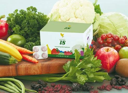 THÀNH PHÂN HOẠT CHẤT & TÁC DỤNG Forever Natures 18 bổ sung 18 loại rau củ quả