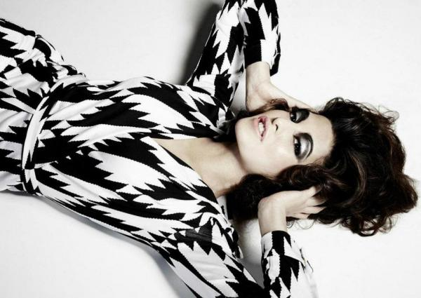 Jacqueline Fernandez for Suresh Natarajan - make up, dark hair - Jacqueline Fernandez's new photoshoot 2012