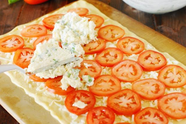 Crescent Roll Tomato-Basil Squares