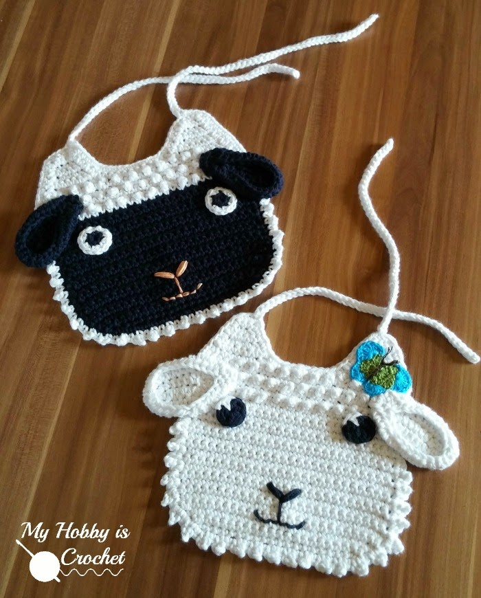Free Crochet Pattern Baby Lamb : My Hobby Is Crochet: Little Lamb Crochet Baby Bib Free ...