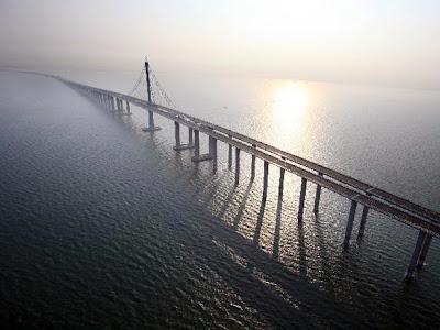 Shandong+Highway jambatan+terpanjang+dunia billyinfo3 Jambatan Terpanjang Di Dunia Kini Di China