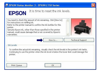 Resetter Epson L210 L300 L110 L350 L355 Free Download