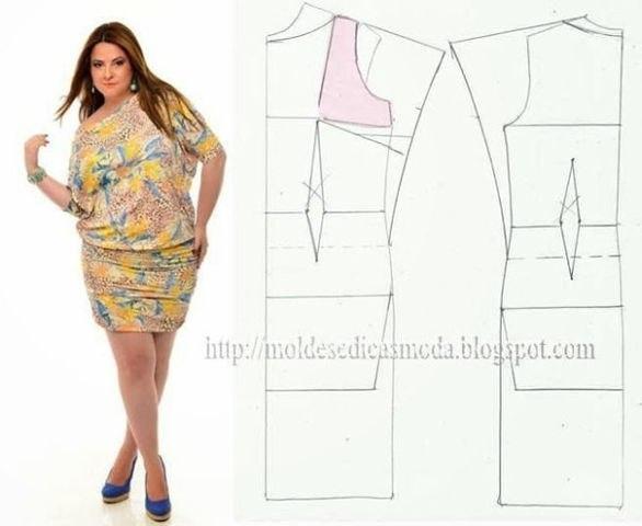 Мастера и умники: Выкройки платьев для аппетитных дам