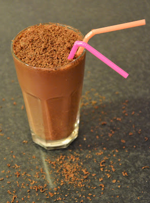 Healthy chocolate shake.