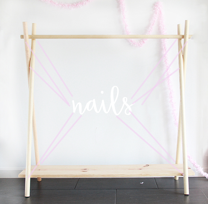 A bubbly life diy wooden clothing rack in yes minutes