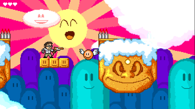 Screenshot of protagonist in The Angry Video Game Nerd Adventures
