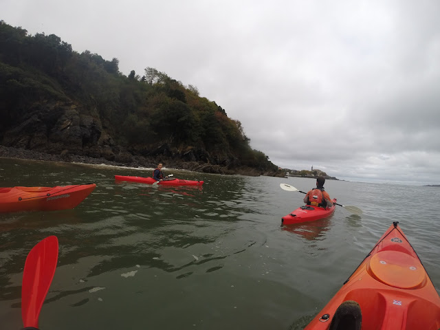 Kayaking towards the Bay Of Biscay and the infamous Mundaka wave - Urdaibai