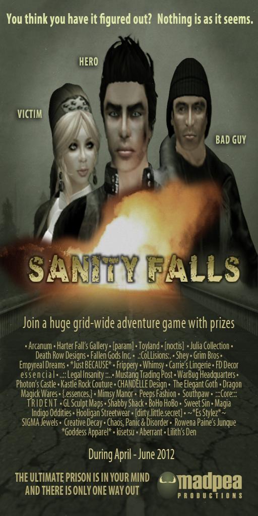 MadPea Sanity Falls Poster