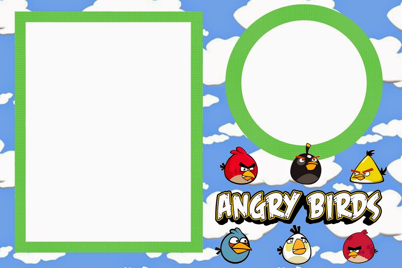 Angry Birds Invitation was good invitation template