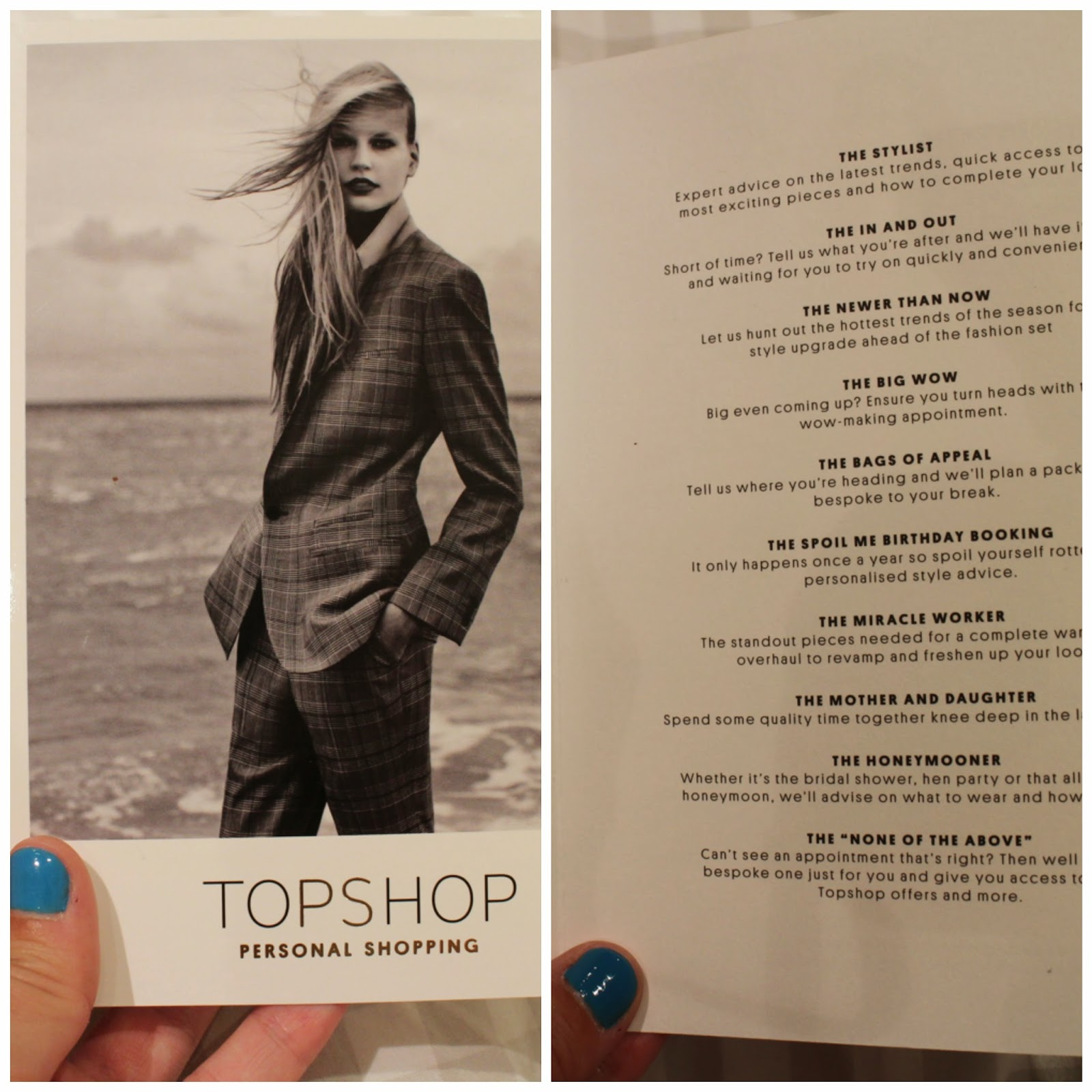 Personal Shopping na TopShop Oxford Street