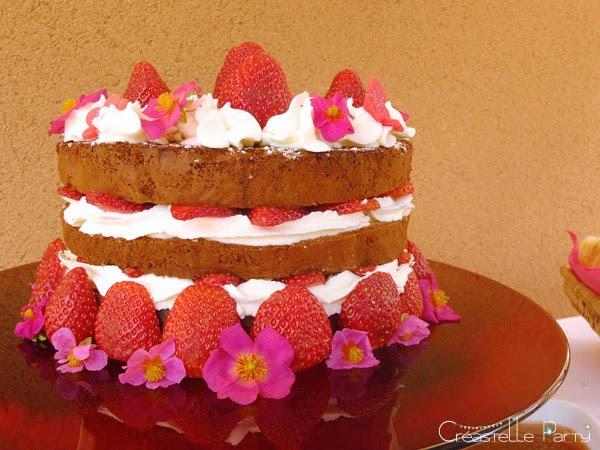 gâteau fraises brunch soleil