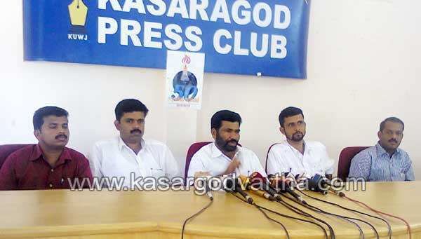 Press Meet, Endosulfan, DYFI, Patient's, Collectorate, Youth-Congress, Court, Kasaragod, Kerala.