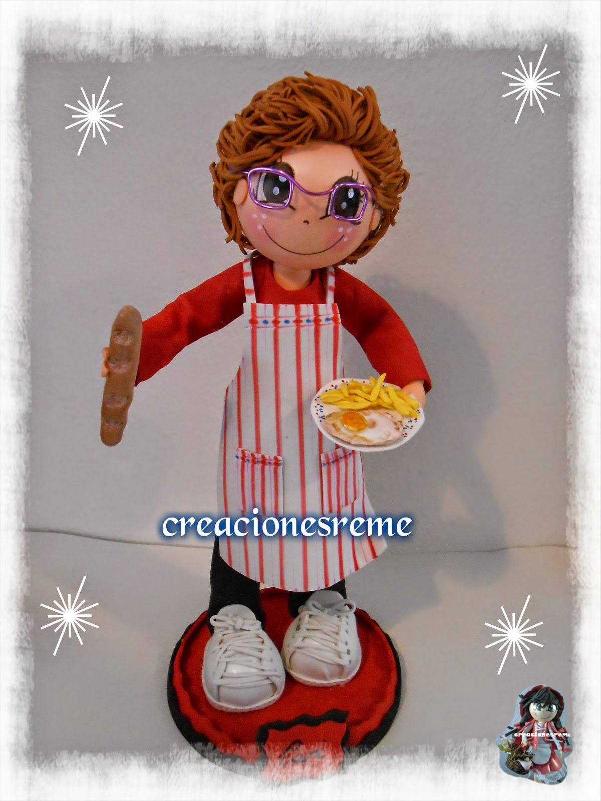fofucha-creacionesreme-fofucha –extremeña-huevos-fritos-goma-eva-las-mejores-fofuchas-cocinera-goma-eva