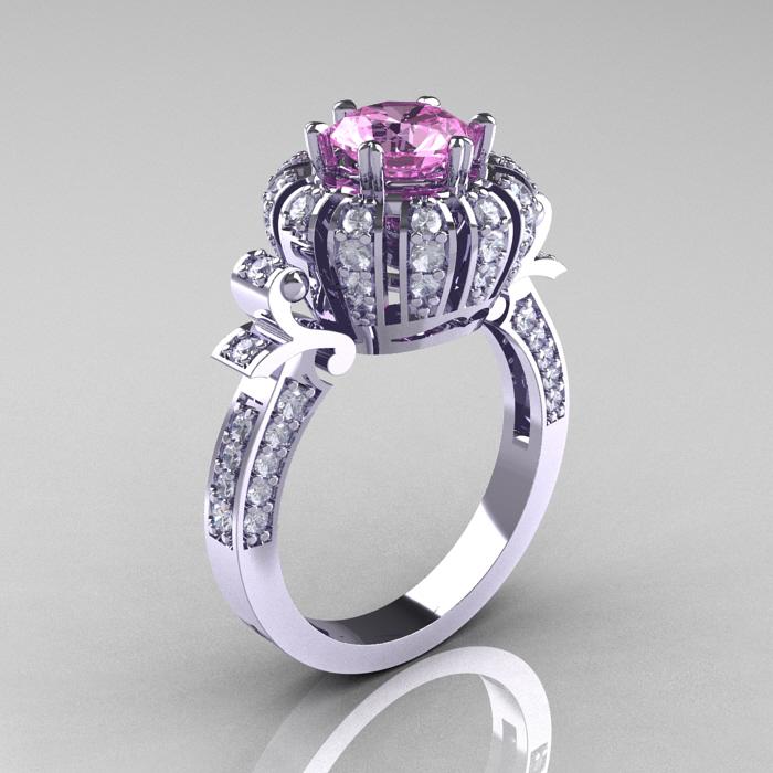 ClassicEngagementRing Blog Classic Yeva 14K White Gold 1 0 CT Light Pink