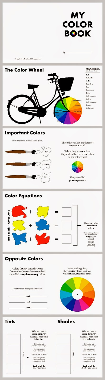 color theory for kids free printable color book - Color Theory Book