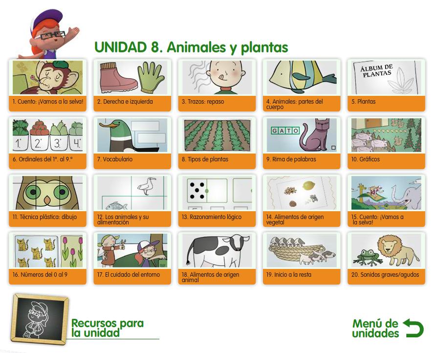 Material de Isaac para Educacion Especial ANIMALES Y PLANTAS