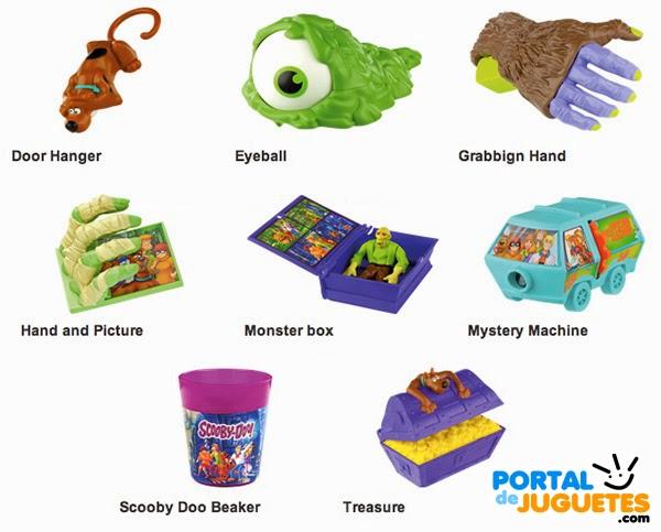 juguetes scooby doo happy meal mcdonalds coleccion completa nombres