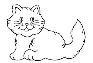 Desenhos de Gato para imprimir