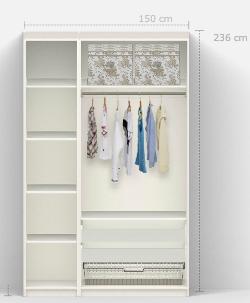 Kleines gelbes haus pax birkeland kleiderschrank for Ikea kleiderschrank gestalten