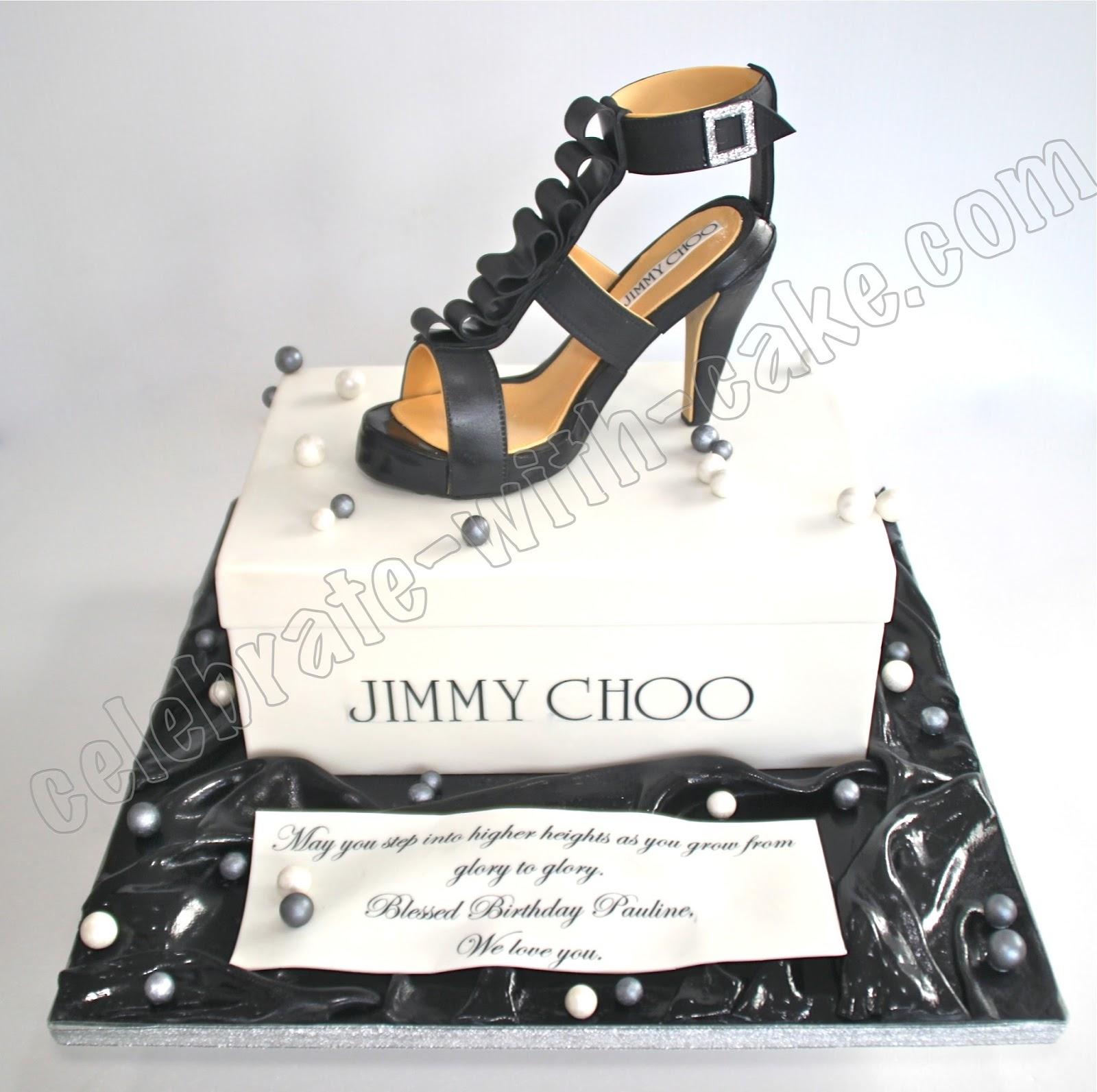 Celebrate With Cake Jimmy Choo High Heeled Shoe Cake