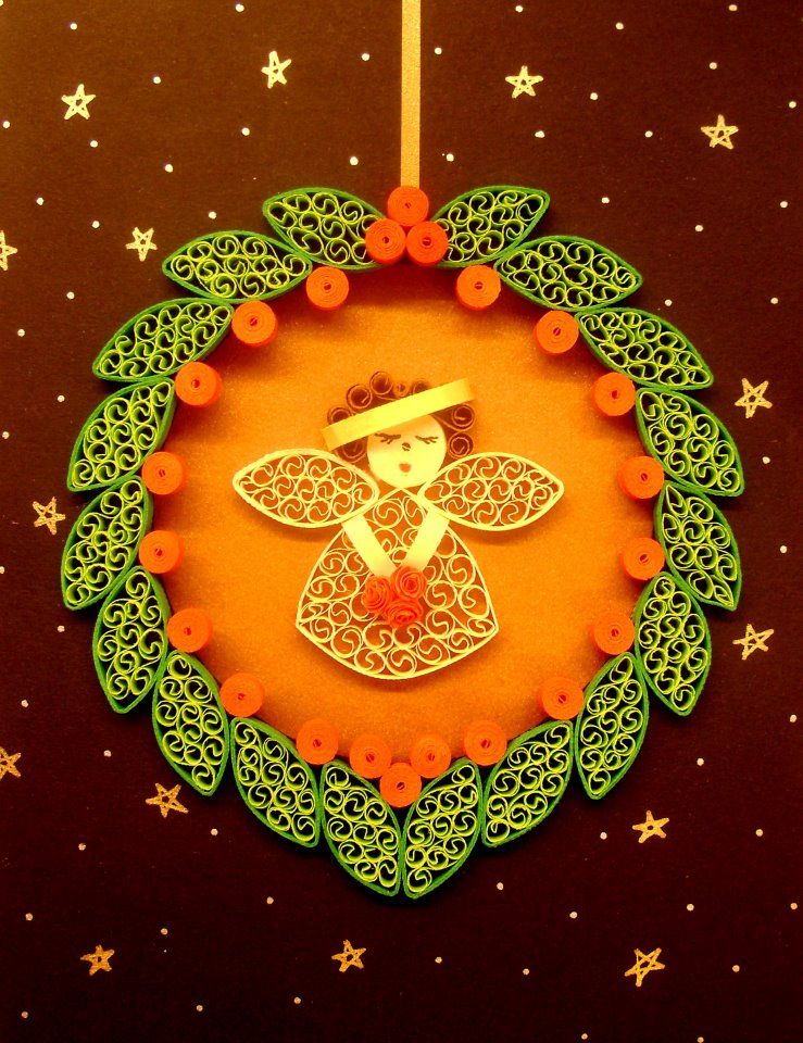 Angel paper quilling creative art craft work for Creative paper art