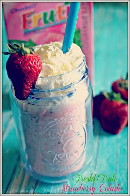 Strawberry Colada #Recipe #FreshNFruti #Cbias