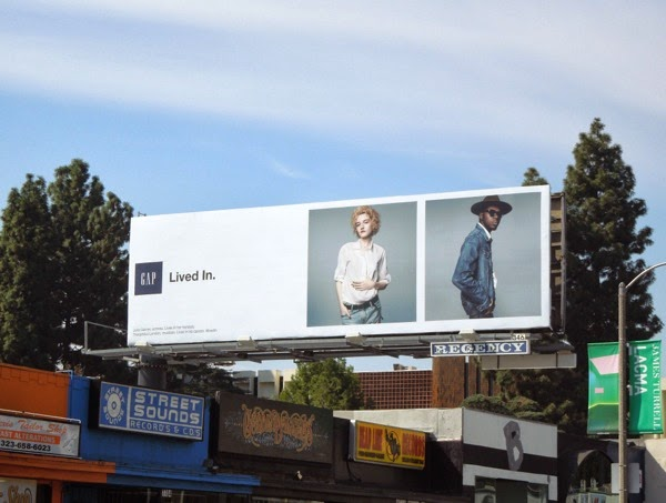 Gap Lived in Spring 2014 billboard