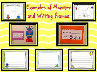 craft and writing to go with Go Away Big Green Monster and Glad Monster, Sad Monster